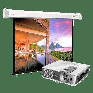 LCD проектор с экраном