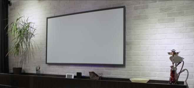 Экран для домашнего кинотеатра своими руками