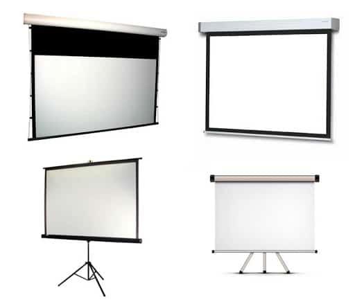 Различные проекционные экраны